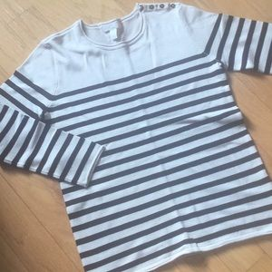 NWOT. Beige and black striped sweater